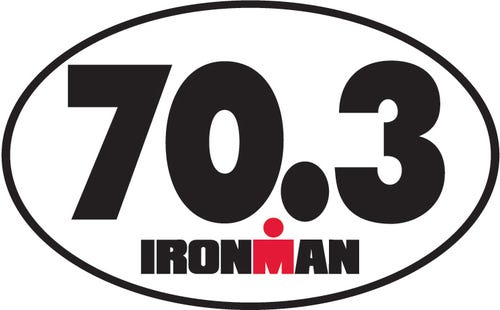 IRONMAN 70.3 Oval Magnet