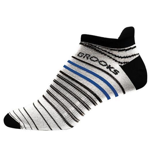 Brooks Running Launch Lightweight Tab Sock Unisex White/Black