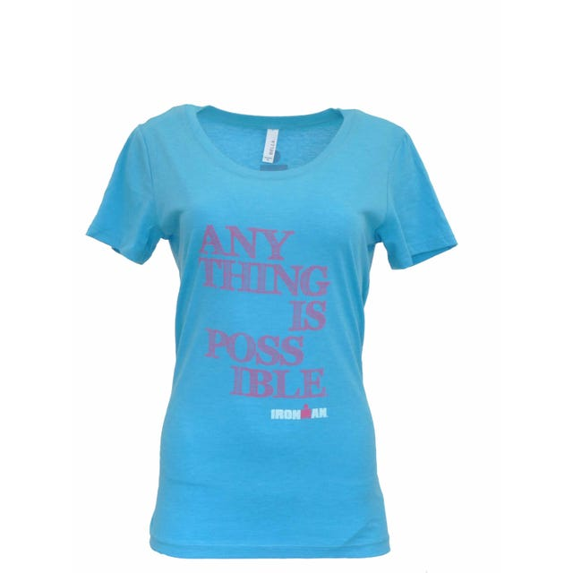 IRONMAN 'Anything is Possible' Women's Tee - aqua blue