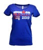 IRONMAN 70.3 PAYS D'AIX 2019 WOMEN'S V-NECK NAME TEE
