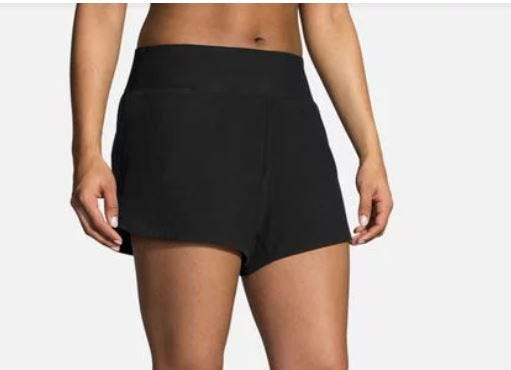 "Brooks Running Ladies Chaser 5"" Shorts Black"