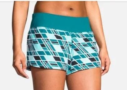 "Brooks Running Ladies Chaser 3"" Short Ocean Wave"