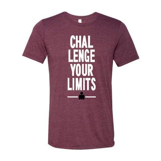 IRONMAN Men's Challenge Your Limits Tee - Maroon