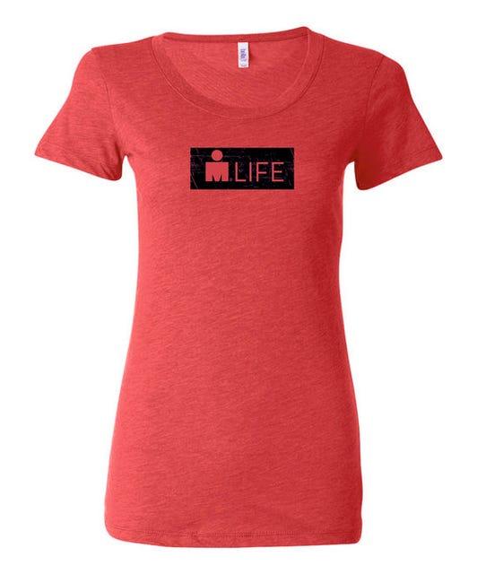 IRONMAN Women's MDOT Life Tee - Red