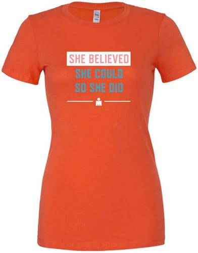 IRONMAN Women's She Believed Tee - Coral