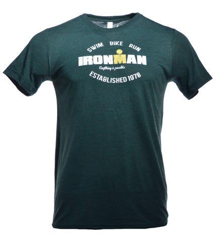 IRONMAN Men's SWIM BIKE RUN Tee - Green