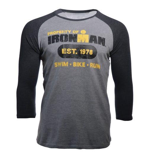 IRONMAN Men's Est.'78 Long Sleeve Tee - Heather Grey