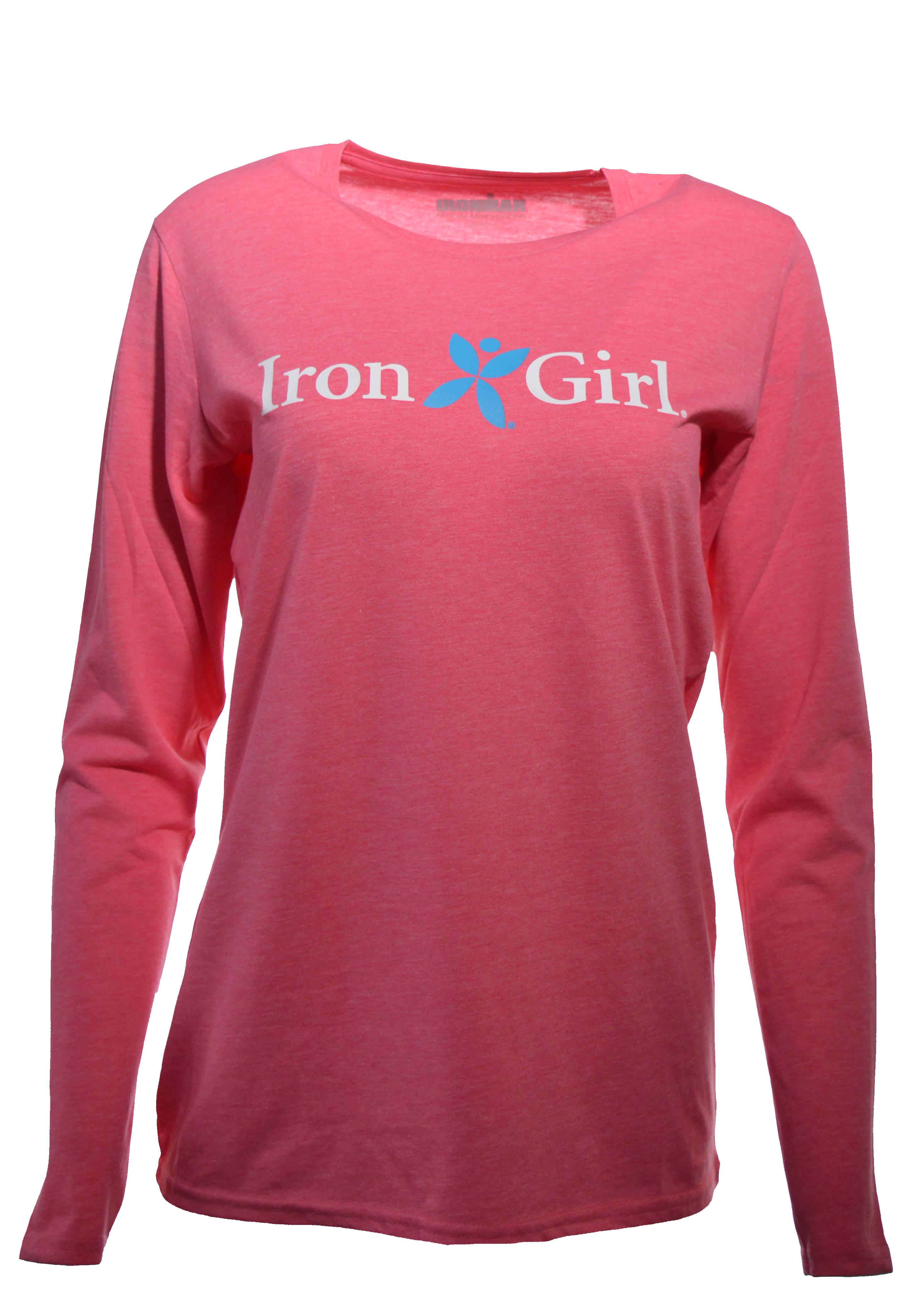 Iron Girl Women's Long Sleeve Tee - Pink Melange