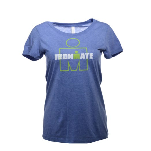 IRONMATE M-Dot Women's Tee - Blue