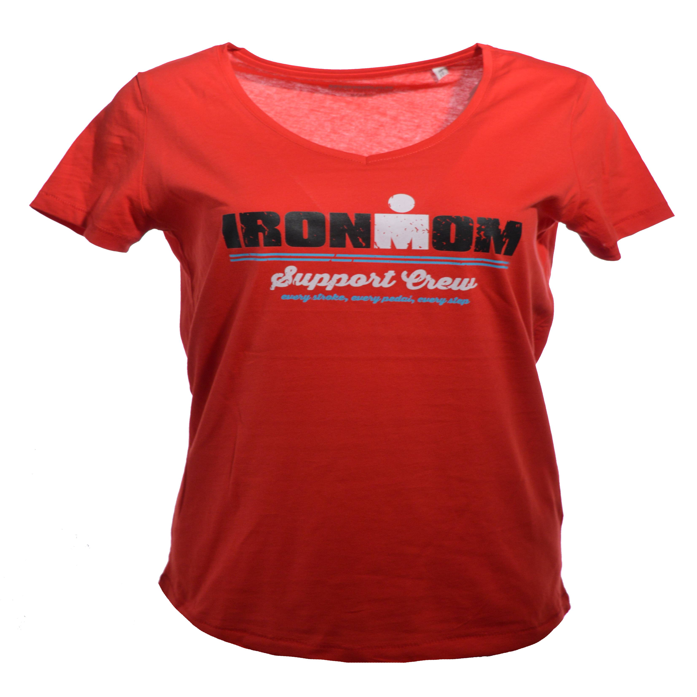 IRONMOM SWIM BIKE RUN Women's Tee - Charcoal