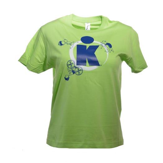 IRONKIDS K-DOT Badge Kids' Tee - Lime Green