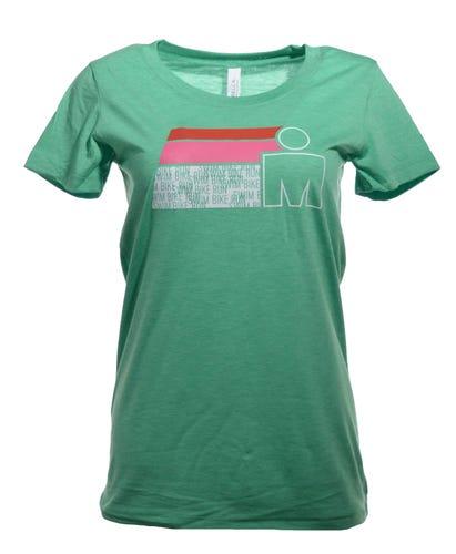 M-DOT SWIM BIKE RUN Women's Tee - Green