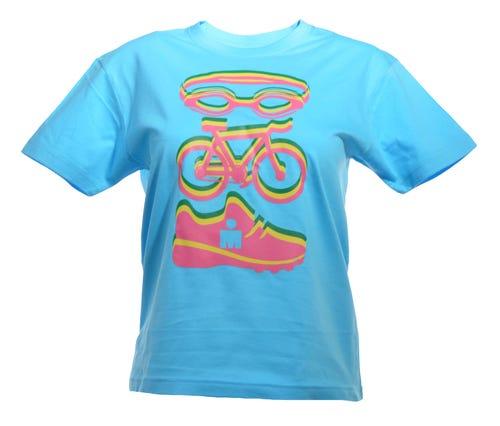 IRONMAN SWIM BIKE RUN  Kids' Tee - Turquoise