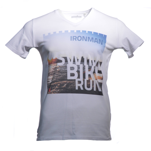 IRONMAN Swim Bike Run Men's Tee - White
