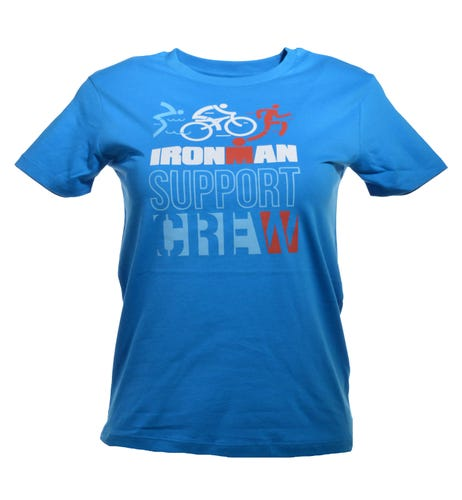 IRONMAN Support Crew Kids Tee - Azure