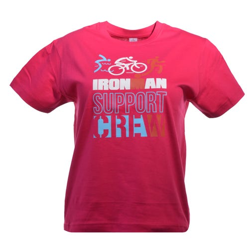IRONMAN Support Crew Kids Tee - Fuchsia
