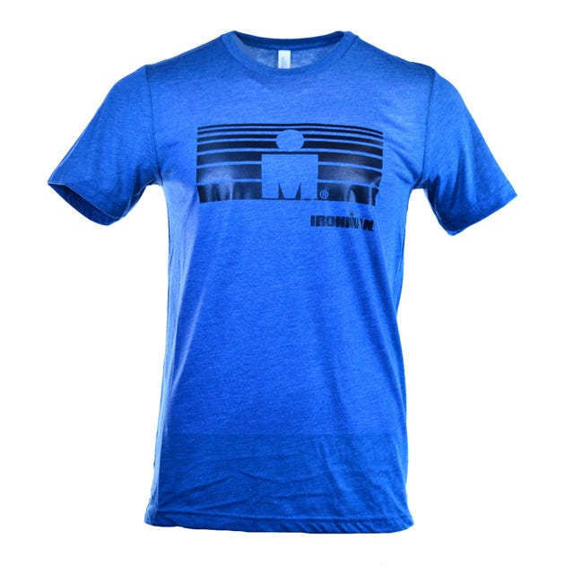 IRONMAN Striped M-DOT Men's Tee - Blue