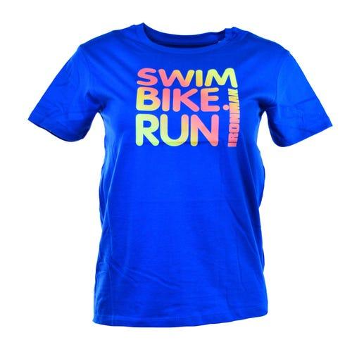 IRONMAN Kids Swim, Bike, Run Spell-out Tee-Blue