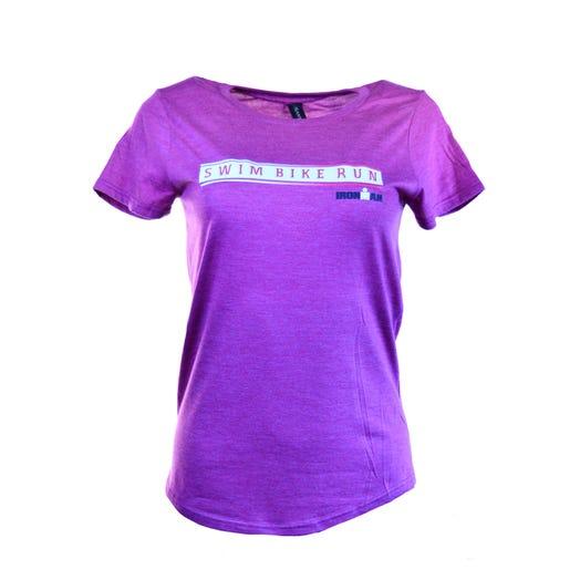 IRONMAN Swim Bike Run Women's Tee - Purple