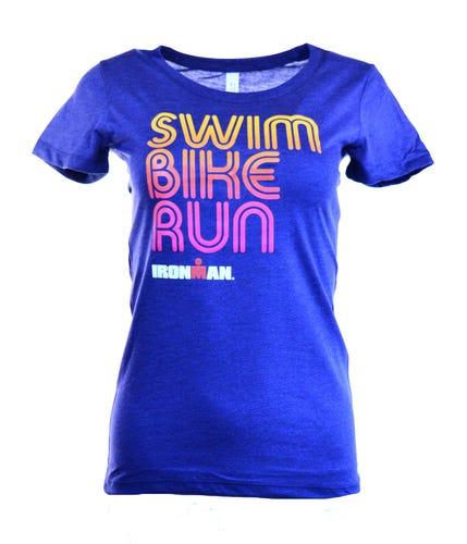 IRONMAN Swim Bike Run Women's Tee - Navy