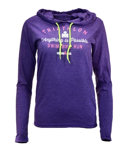 IRONMAN WOMEN'S ANYTHING IS POSSIBLE LONG SLEEVE HOODED TEE