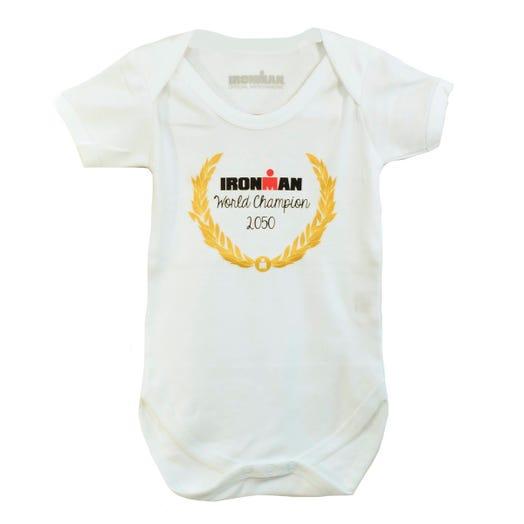 IRONMAN WORLD CHAMPION 2050 INFANT ONESIE