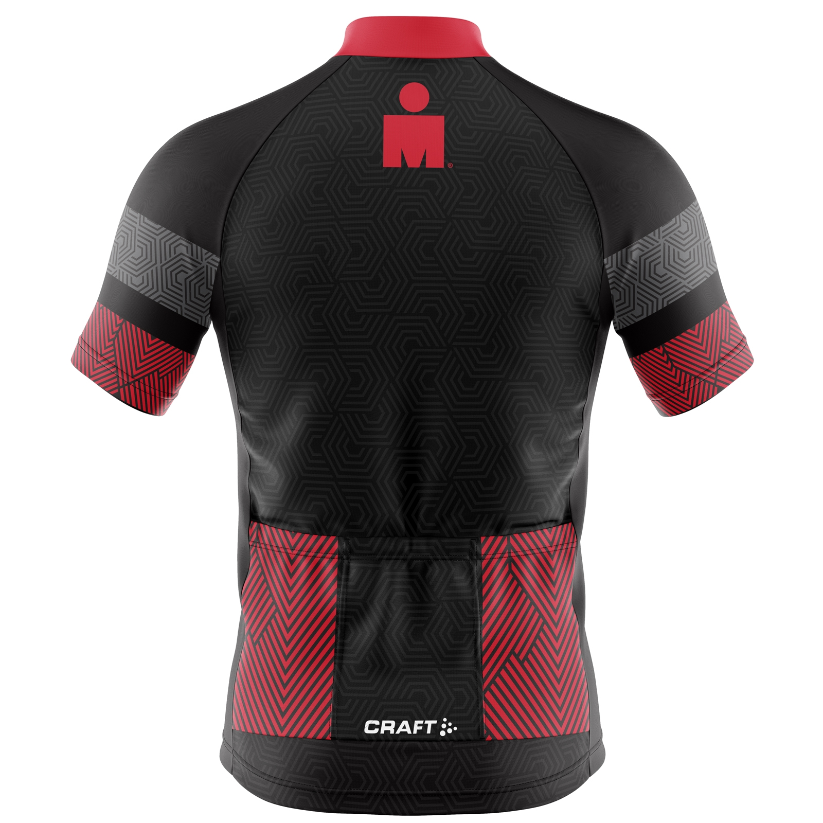 IRONMAN Craft Men's Cycle Jersey-Black/Red