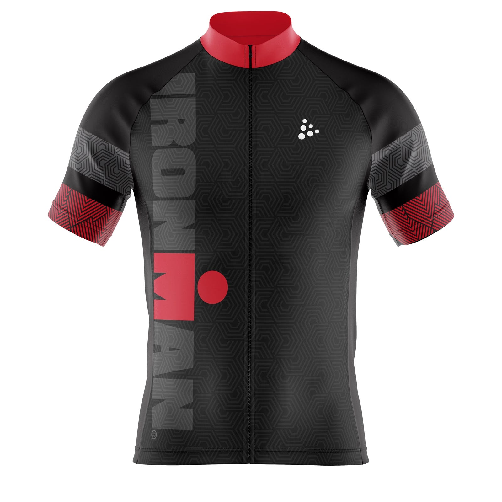 77107dd0b5a IRONMAN Craft Men's Cycle Jersey-Black/Red