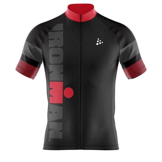 IRONMAN Craft Men's Cycle Jersey-Black/Red