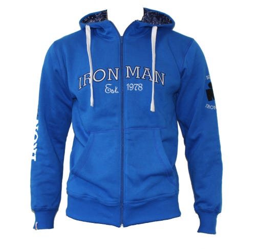 IRONMAN Vintage Men's Full Zip Jacket - Blue/Navy