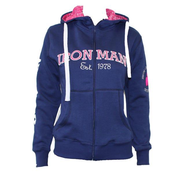 IRONMAN Vintage Women's Full Zip Jacket - Navy/Pink