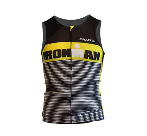 IRONMAN Craft Men's Tri Tank - Black/Yellow