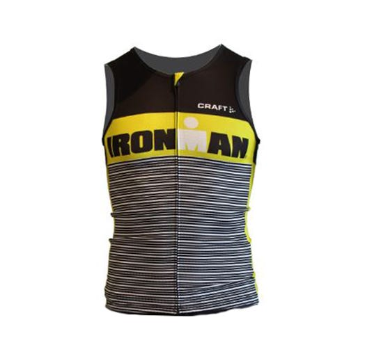 IRONMAN Craft Men's Tri Tank - Black/Yellow