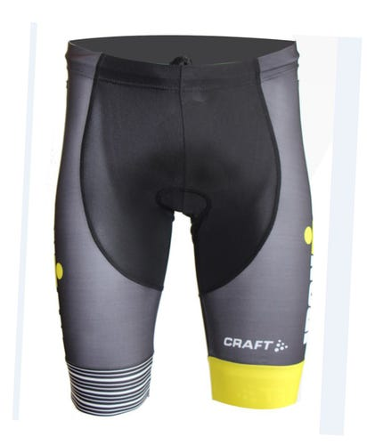 IRONMAN Craft Men's Tri Short - Black/Yellow
