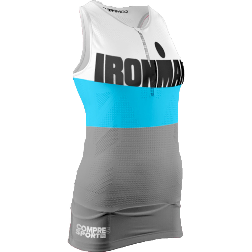IRONMAN COMPRESSPORT Women's TR3 Aero Tank - Grey