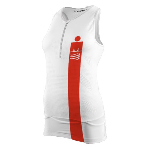 IRONMAN COMPRESSPORT Women's TR3 Aero Tank - White