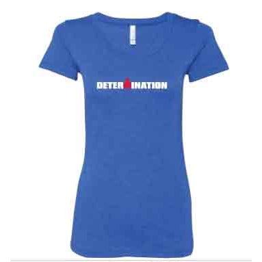 IRONMAN Women's DETERMINATION Tee - blue