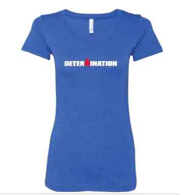 IRONMAN Women's DETERMINATION Tee - blue