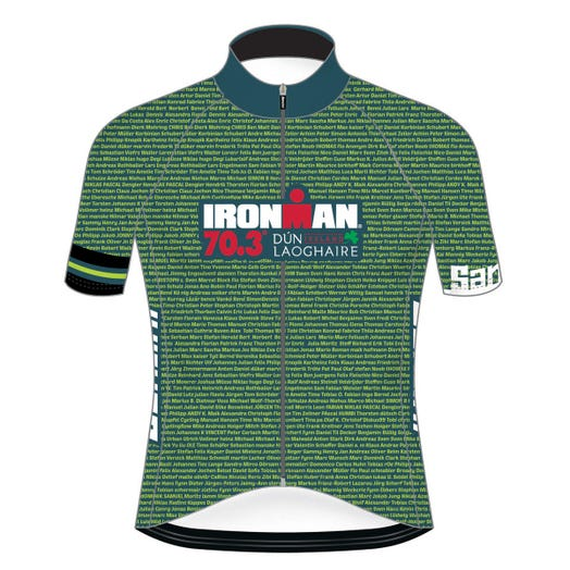 IRONMAN 70.3 DUN LAOGHAIRE 2019 MEN'S NAME CYCLE JERSEY