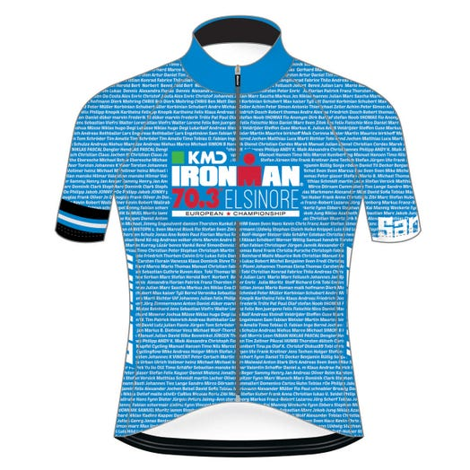 KMD IRONMAN 70.3 ELSINORE 2019 EUROPEAN CHAMPIONSHIP MEN'S NAME CYCLE JERSEY