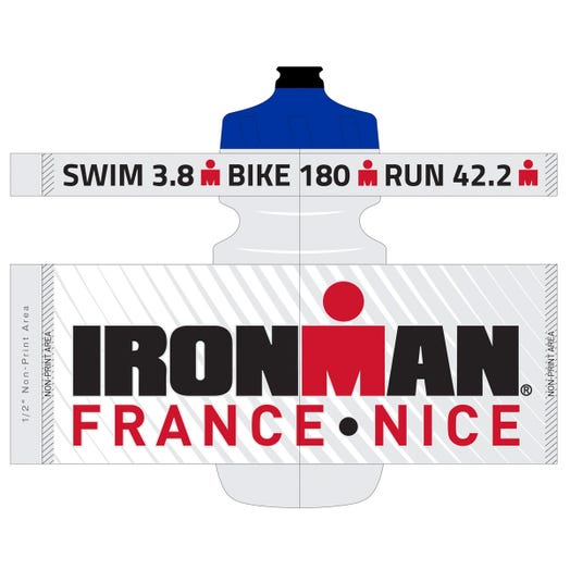 IRONMAN FRANCE WATER BOTTLE CLEAR
