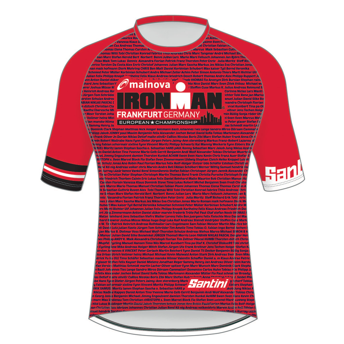 IRONMAN EUROPEAN CHAMPIONSHIP 2019 MEN'S PERFORMANCE NAME TEE