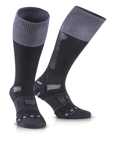 IRONMAN COMPRESSPORT Full Socks Detox & Recovery - Grey Stripe