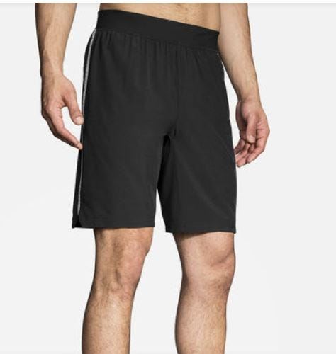 "Brooks Running Men's Go-To 9"" Short Black"