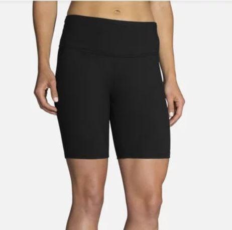 """Brooks Running Ladies Greenlight 7"""" Short Tight Black"""