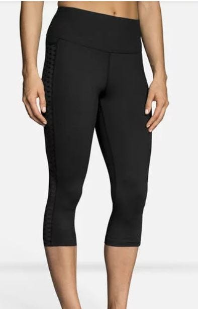 Brooks Running Ladies Greenlight Capri Black