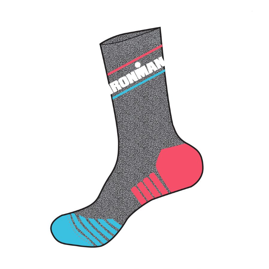 IRONMAN Run Sock - Heathered Zing - Medium