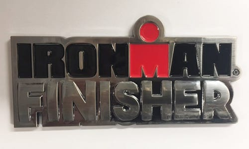 "IRONMAN 4"" Finisher Car Emblem"