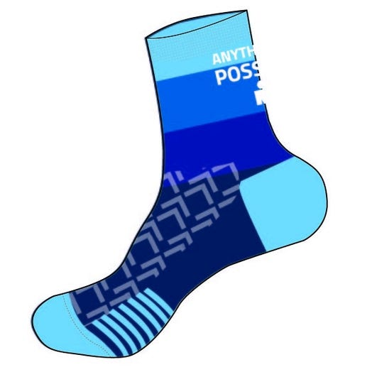 IRONMAN RPM Cycle Sock - Gradient Blue