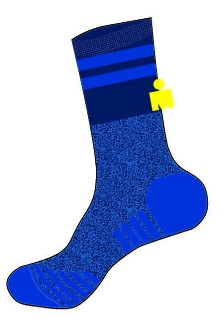 IRONMAN Colorblock Run Sock - Blue - Large